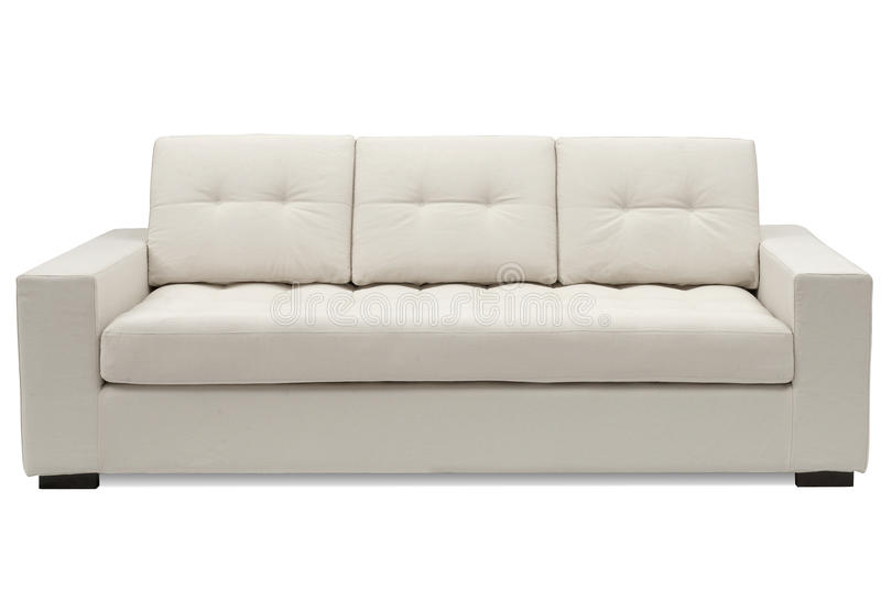 Buff sofa royalty free stock image