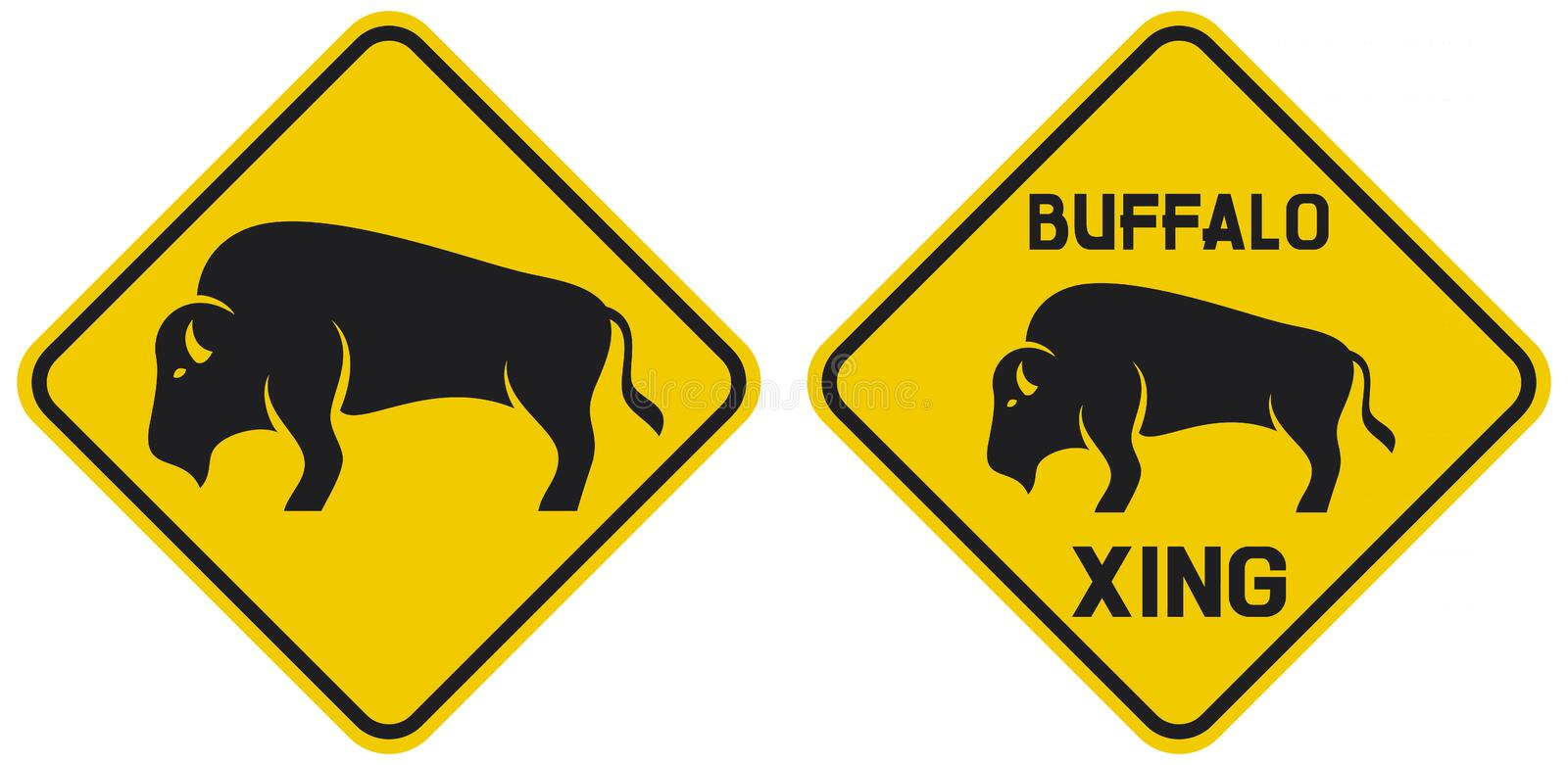 Download Buffalo stock vector. Illustration of indication, highway - 24611485