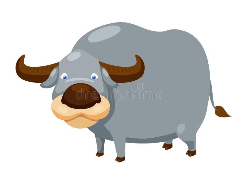 Download Buffalo stock vector. Illustration of farm, burden, asian - 26184977