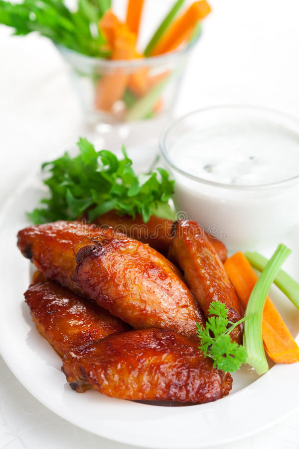 Buffalo Chicken Wings Stock Photography