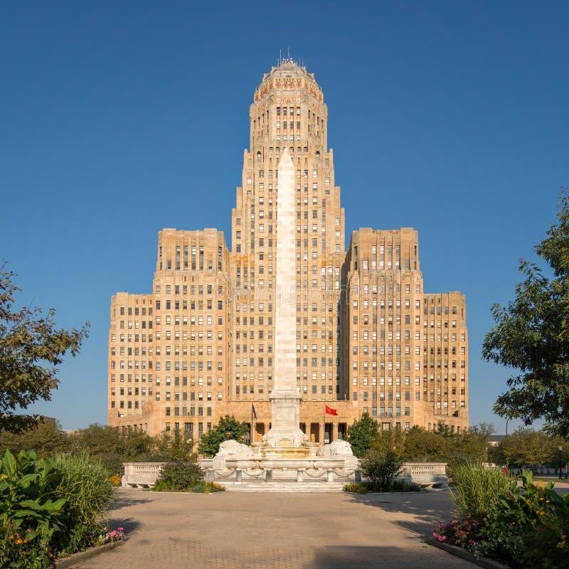 Download Buffalo City Hall stock image. Image of entrance, square - 26471475