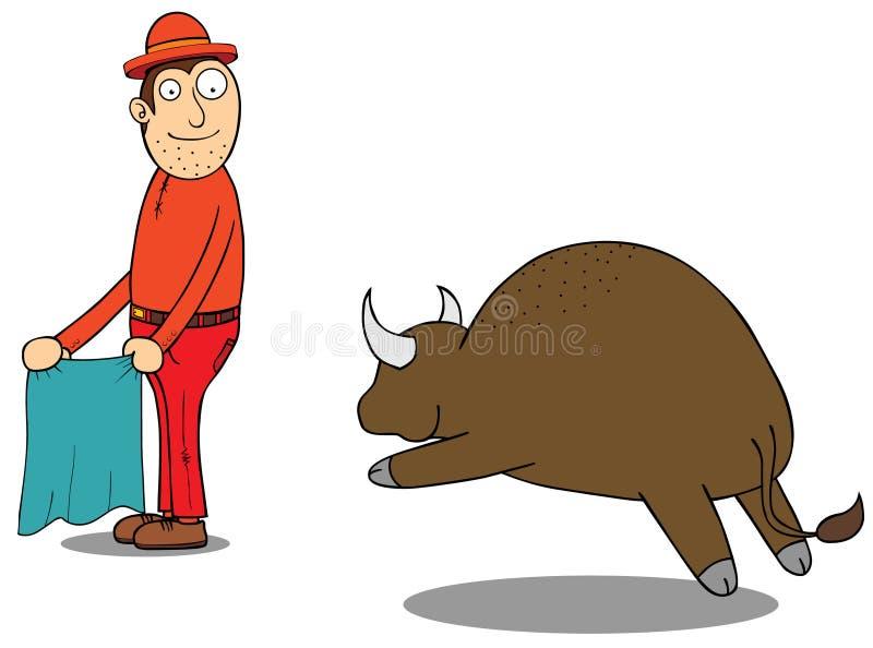 Buffalo di Challanging illustrazione vettoriale