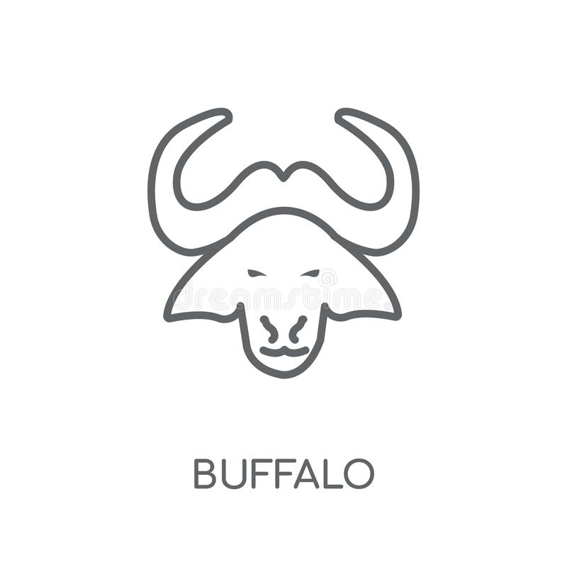 Buffalo linear icon. Modern outline Buffalo logo concept on whit. E background from animals collection. Suitable for use on web apps, mobile apps and print media vector illustration