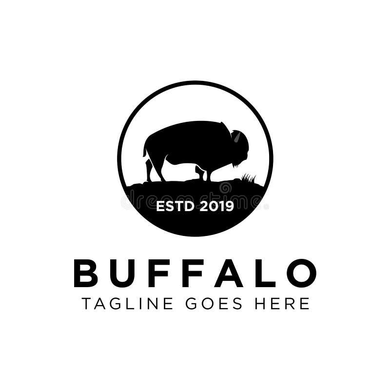Buffalo Logo Design Inspiration, illustration de vecteur illustration stock