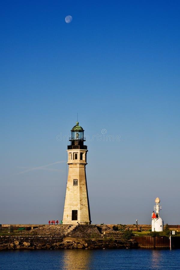 Buffalo Main Lighthouse on Lake Erie stock image