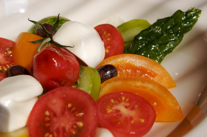 Buffalo mozzarella royalty free stock photography