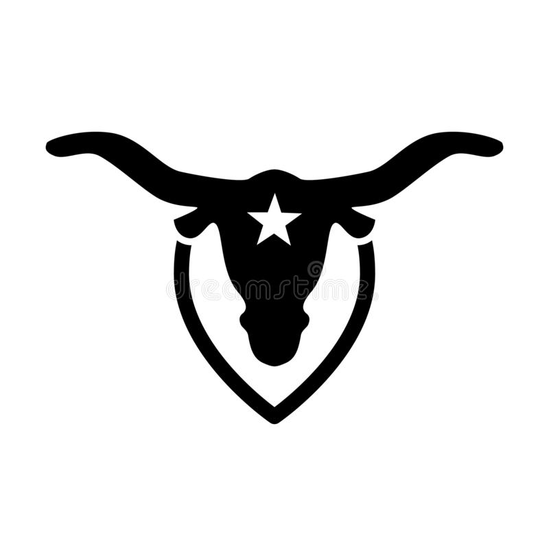 The buffalo is a symbol of the American state of Texas. vector illustration