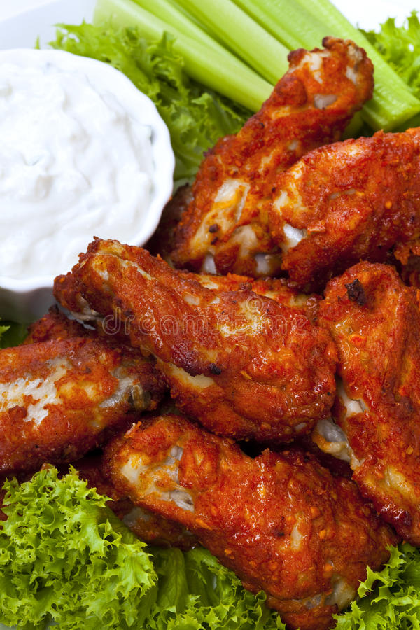 Download Buffalo Wings stock image. Image of photograph, celery - 18569747