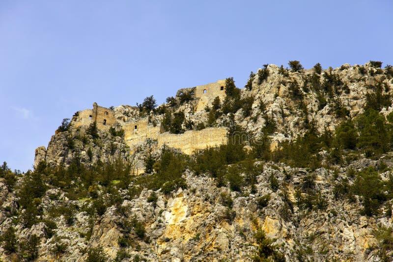 Buffavento Castle. στοκ φωτογραφία