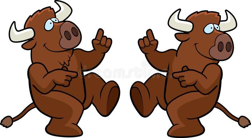 buffeldans vektor illustrationer