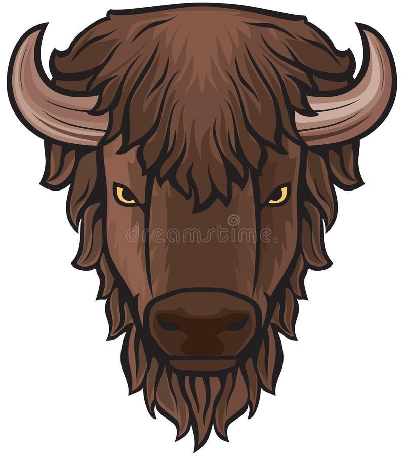 buffelhuvud royaltyfri illustrationer