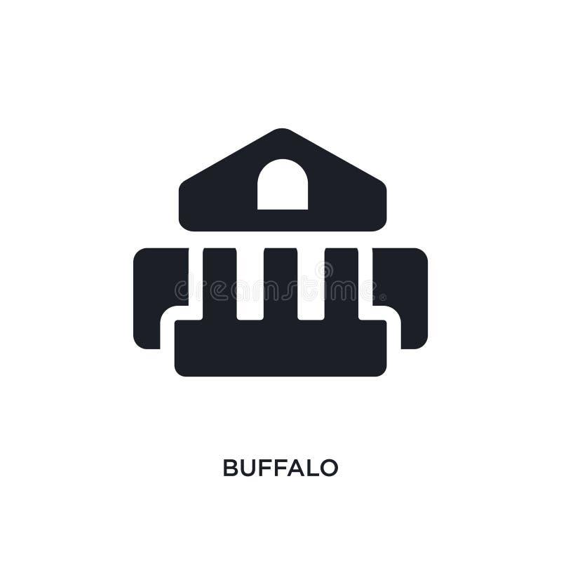 buffels geïsoleerd pictogram eenvoudige elementenillustratie van de pictogrammen van het museumconcept ontwerp van het het tekens royalty-vrije illustratie