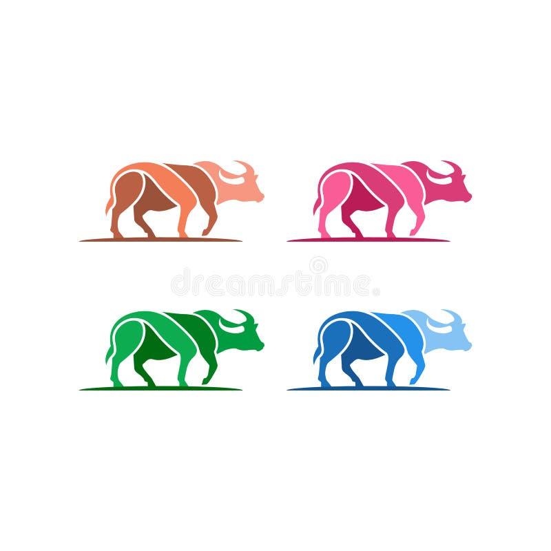 Buffels Logo Template Designs royalty-vrije illustratie