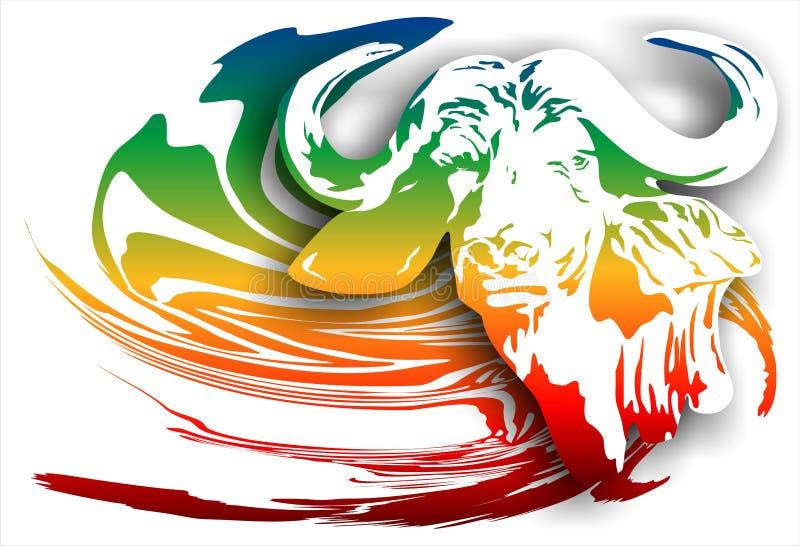 Buffels op een abstracte achtergrond (Vector) vector illustratie