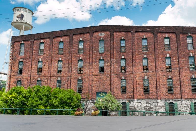 Buffels Trace Distillery in Frankfurter worstje, Kentucky, de V.S. royalty-vrije stock foto's