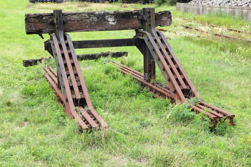 A buffer stop stock photography