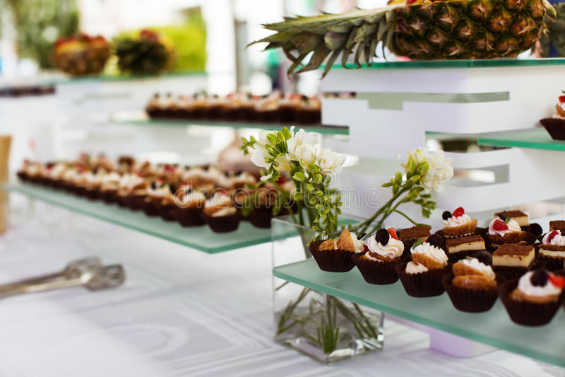 buffet stock afbeelding