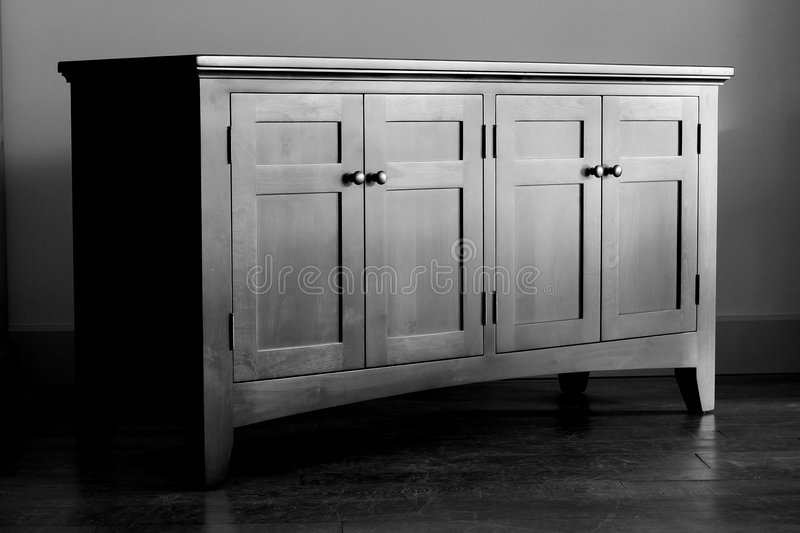 Buffet in Black and White. A finely built shaker buffet shot in black and white royalty free stock image