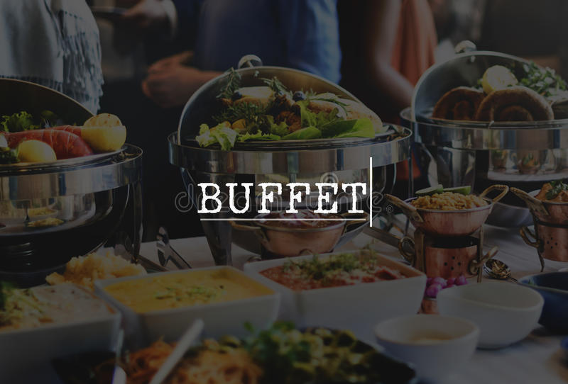Buffet Culinary Food Meal Part Celebration Concept stock photo