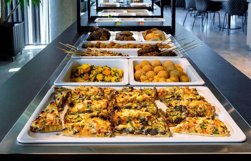 Buffet de restaurant, affaires de restauration photo stock