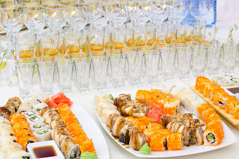 Buffet dei sushi fotografie stock libere da diritti