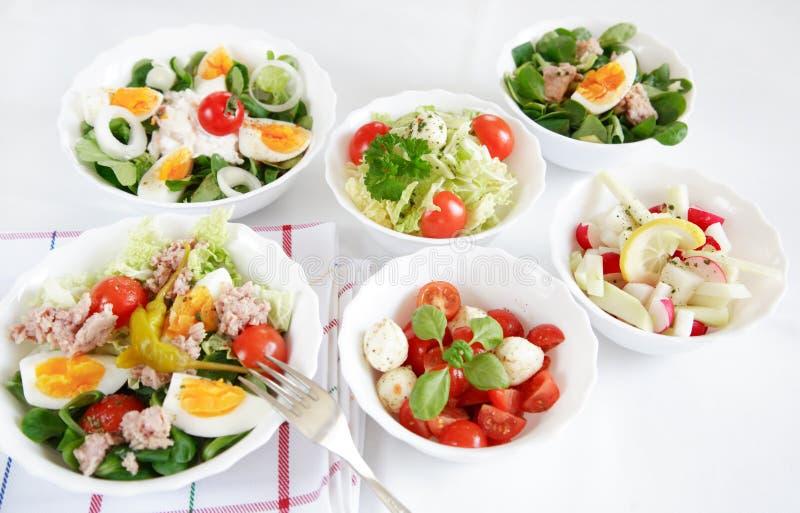 Buffet dell'insalata fotografie stock