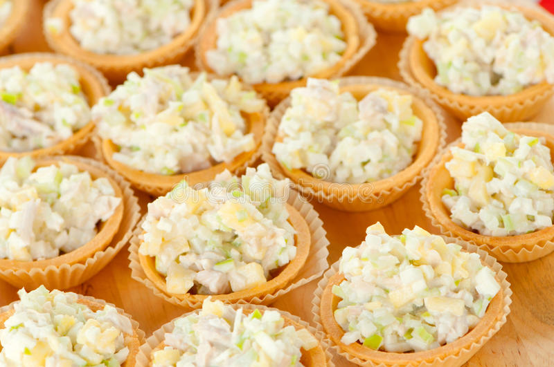 Buffet food. Assortment of catering food served on a plate stock images