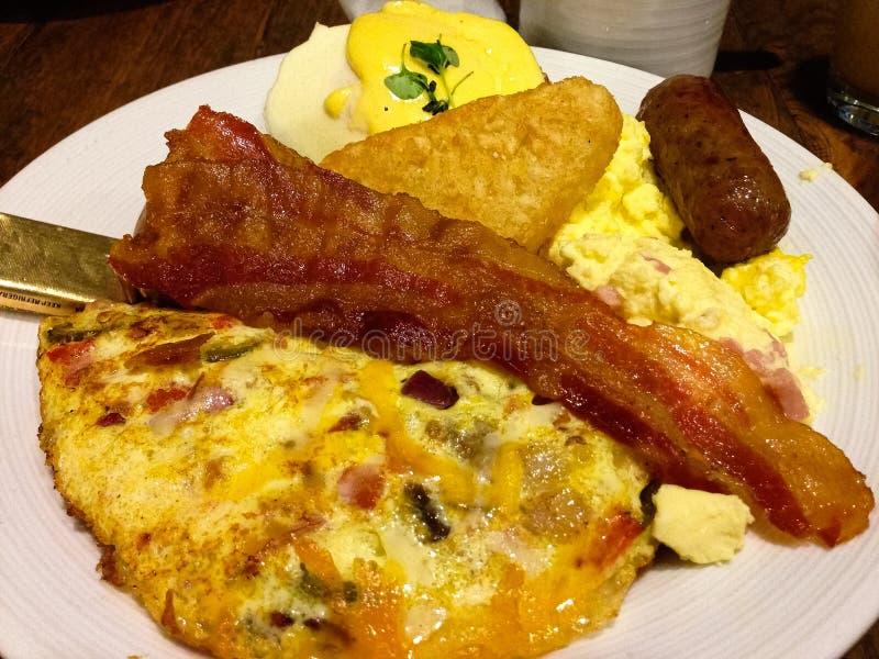 Buffet haché de petit déjeuner de potato photographie stock