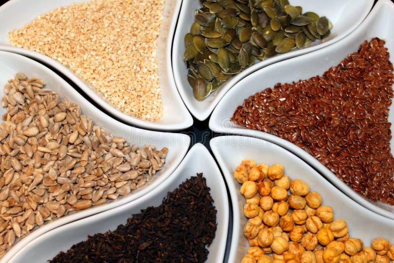 Buffet macrobiotique photo stock