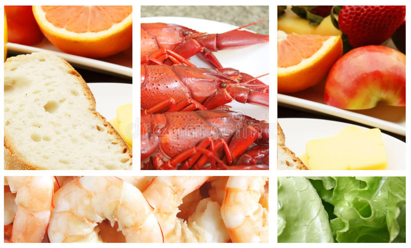 Buffet Meal. With a Variety of Food royalty free stock photos