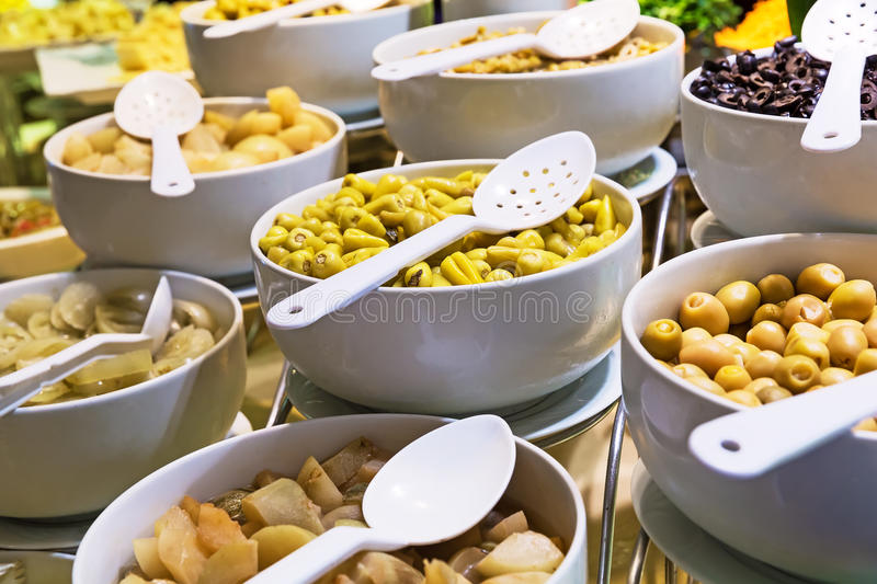 Buffet meal are all included. In a hotel royalty free stock images