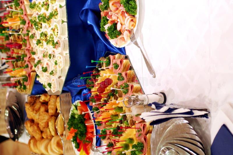 Buffet met snacks bij presentatie #3 stock fotografie