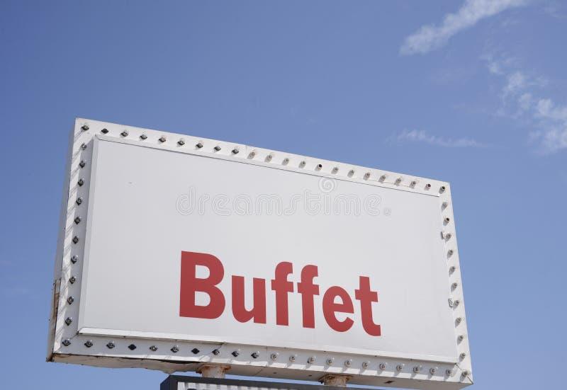 Buffet, Restaurant en Keuken stock foto
