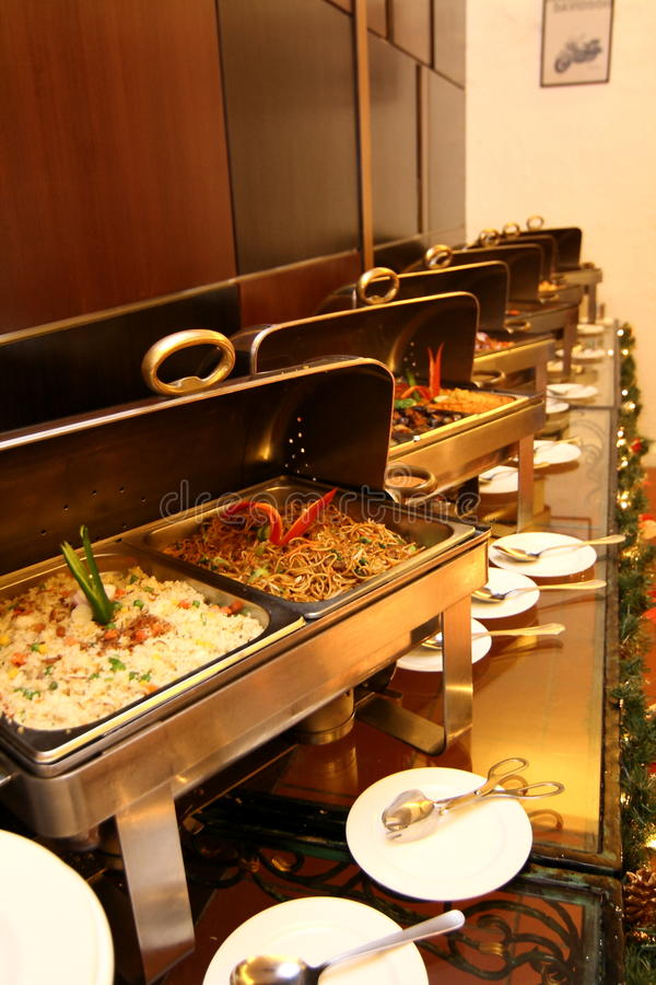 Buffet Restaurant at Hotel royalty free stock photography