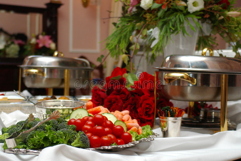 Buffet table. With vegetables royalty free stock photography