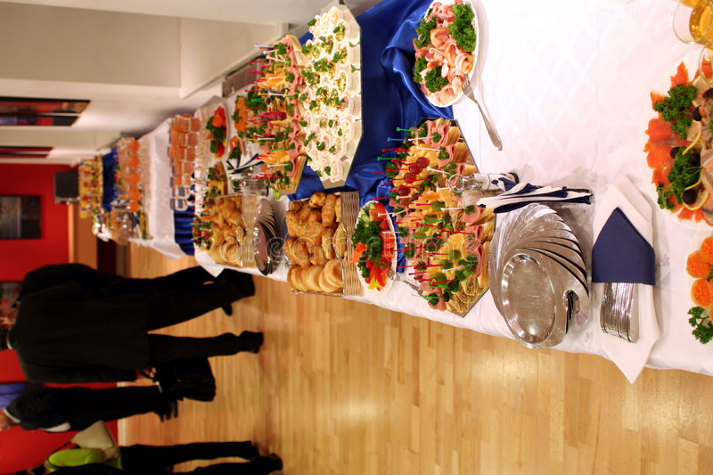 Free Buffet With Snacks At Presentation 1 Stock Photo - 1752640