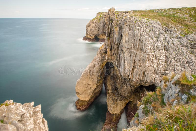 Bufones de Arenillas in the cost of Asturias, north of Spain. Way of St. James stock image
