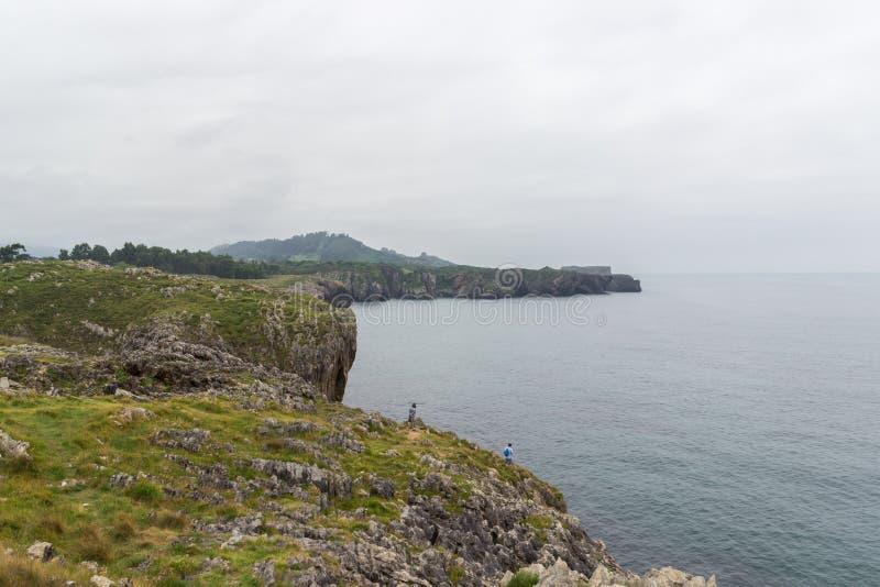 Bufones de Arenillas near LLanes. In Asturias Spain royalty free stock photos