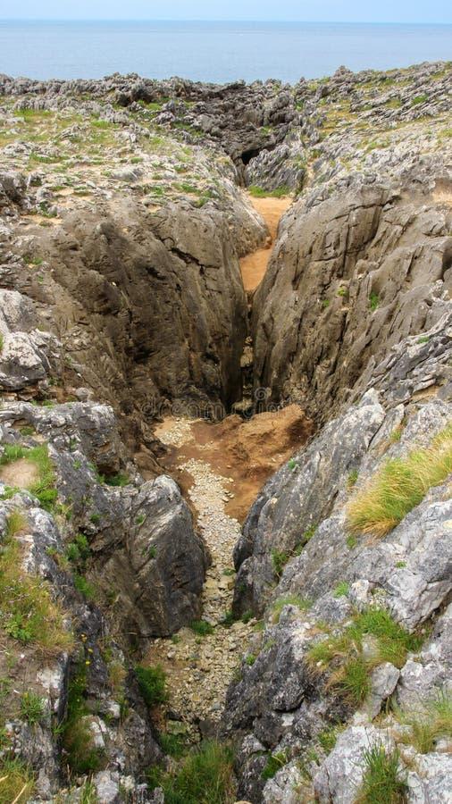 Bufones de Arenillas near LLanes. In Asturias Spain stock photo
