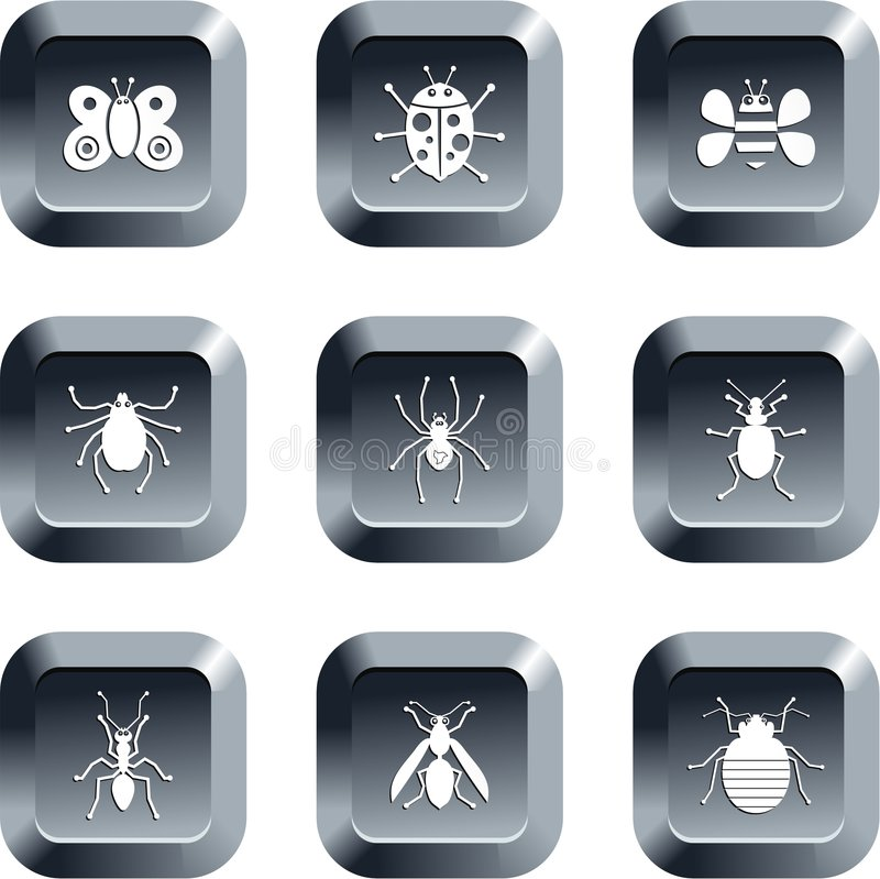 Bug buttons royalty free illustration