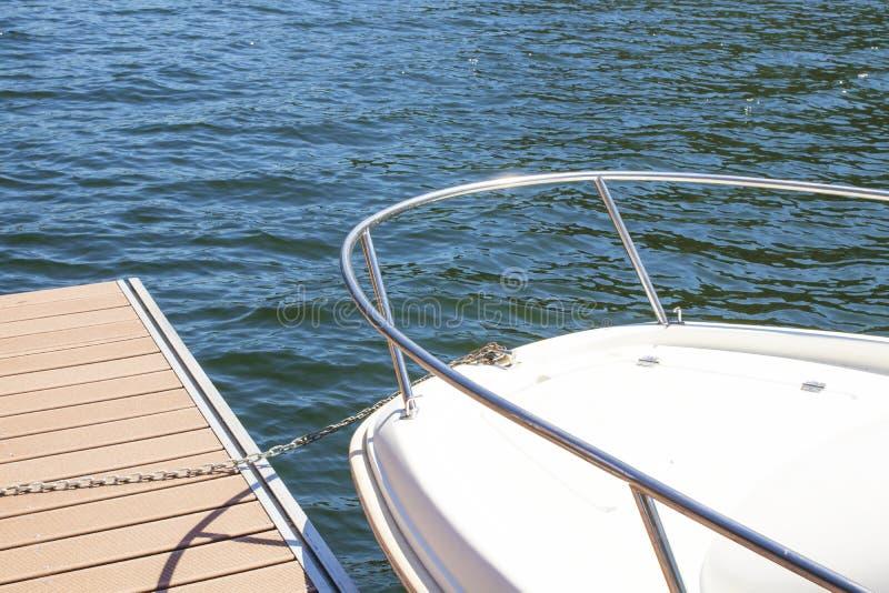 Bug der Yacht stockbilder