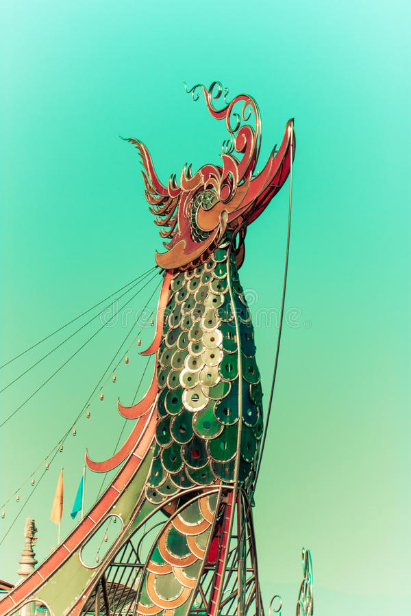 Bug des Lastkahnes des Kaisers, chaingrai, Thailand stockfotos