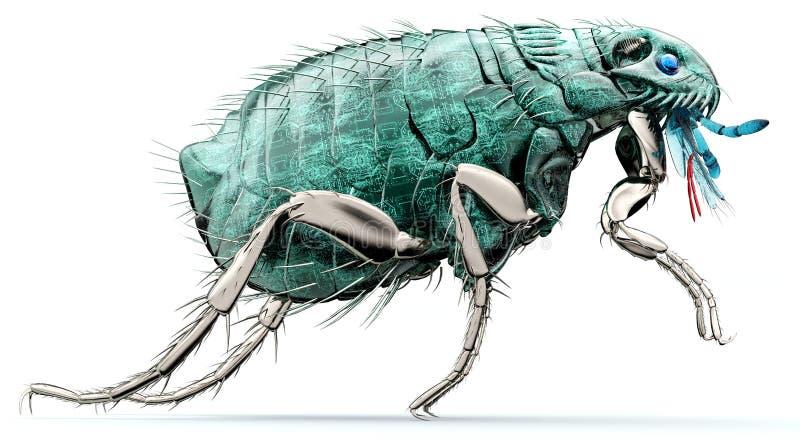 Bug elettronico di concetto di sicurezza di Digital isolato royalty illustrazione gratis