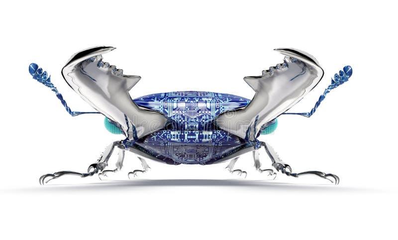 Bug elettronico di concetto di sicurezza di Digital isolato illustrazione di stock