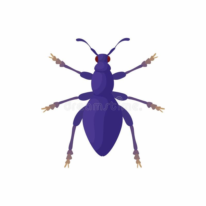 Bug icon, cartoon style royalty free illustration