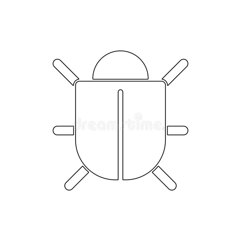 Bug outline icon. Signs and symbols can be used for web, logo, mobile app, UI, UX stock illustration