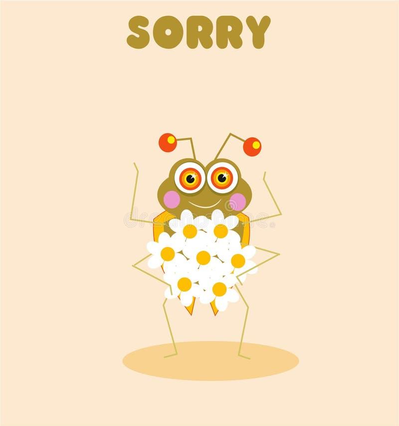 Bug Przepraszam Zdjęcia Stock