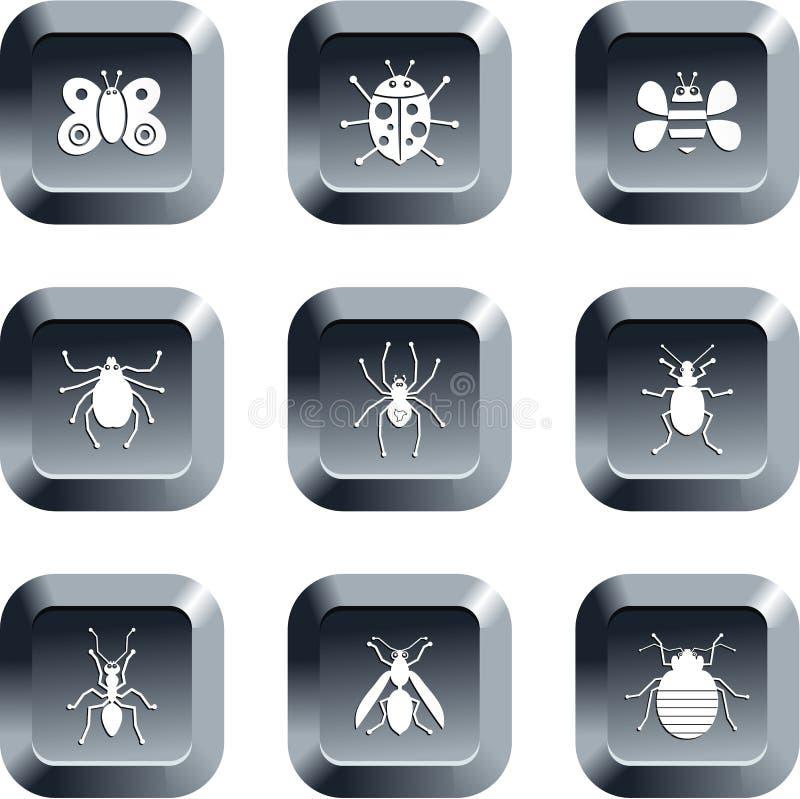 bug przyciski royalty ilustracja