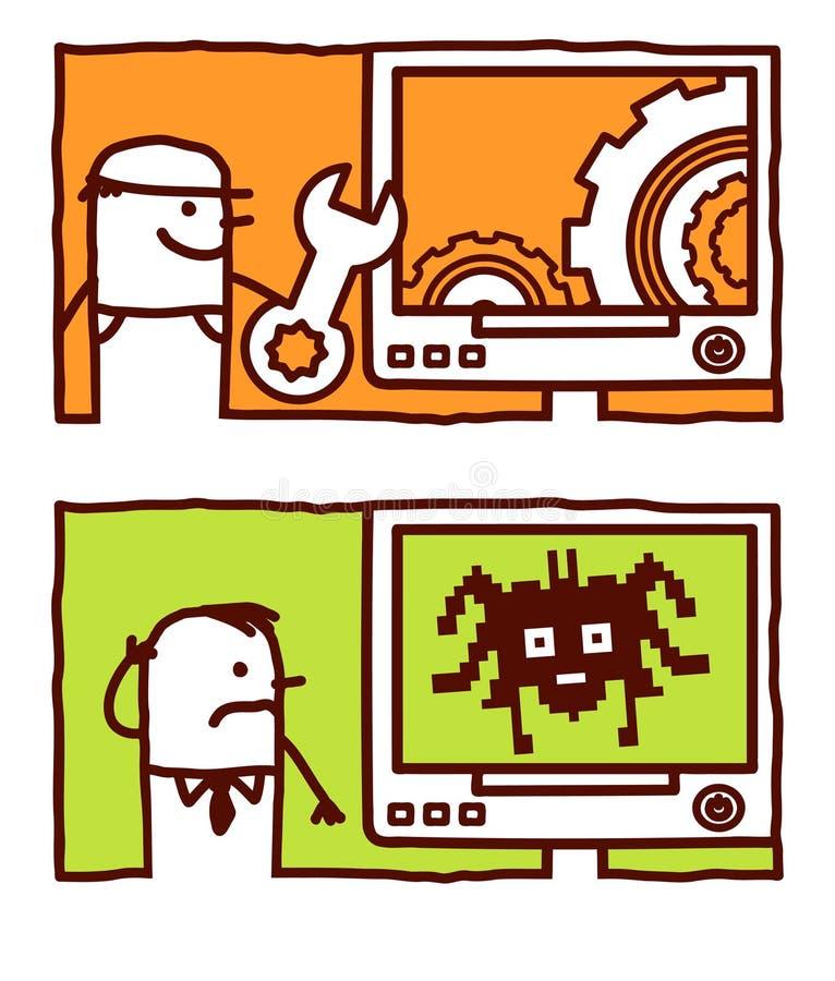Download Bug & restore stock vector. Image of illustration, technician - 14881452