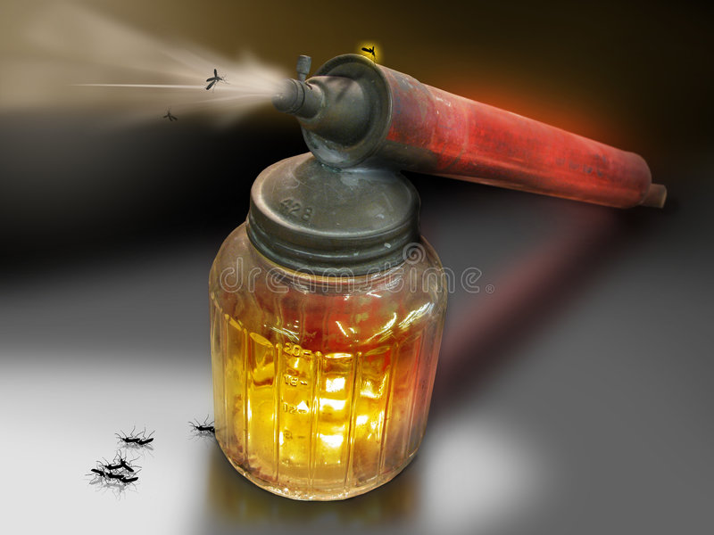 Bug spray stock images